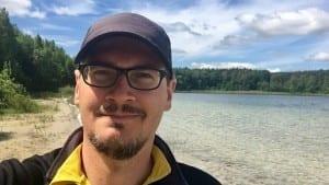 Ich am Großen Fürstensee im Müritznationalpark