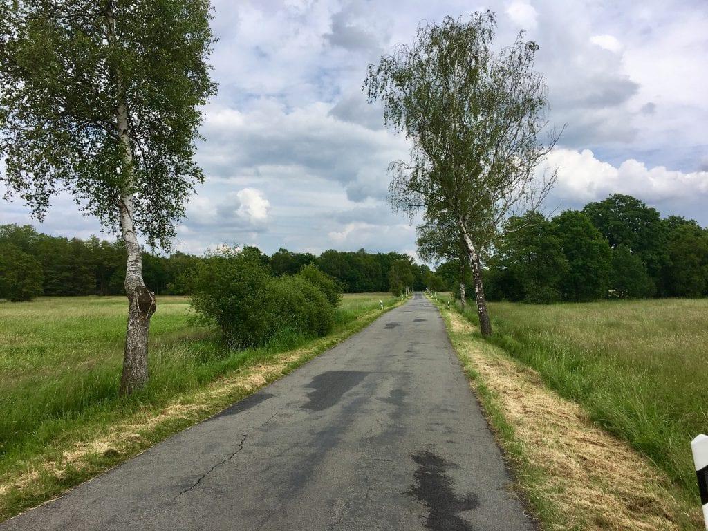 Landschaftliche Idylle bei Linau auf der Fahrradtour von Hamburg nach Ratzeburg
