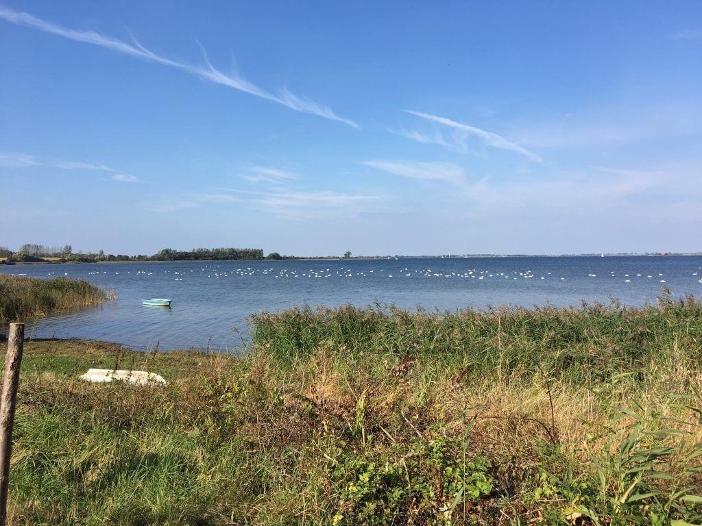 Wanderung an der Ostsee: Blick auf die Eggerswiek in der Wismarer Bucht