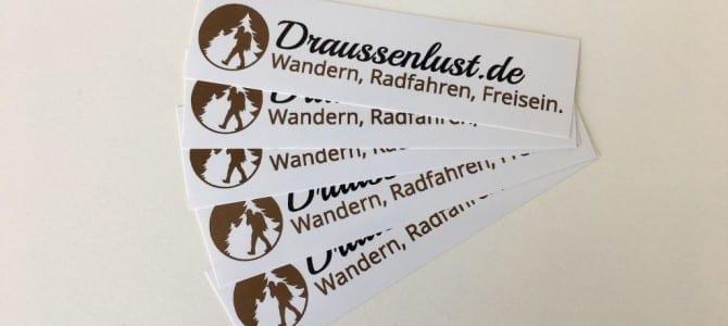 Meine Draussenlust.de-Sticker sind da :)