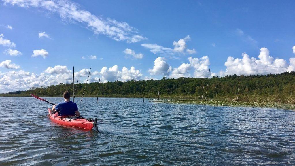 Paddeln auf dem Leppiner See (2)