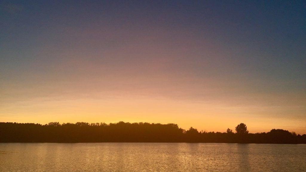 Sonnenuntergang an der Müritz bei der Gaarzer Mühle