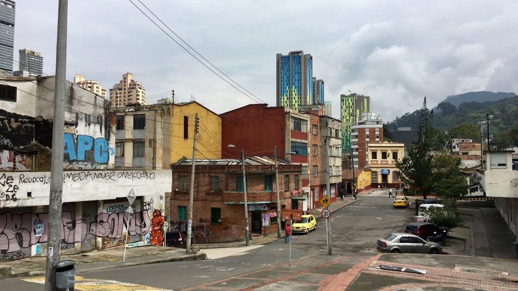 Straßenecke in Bogotá