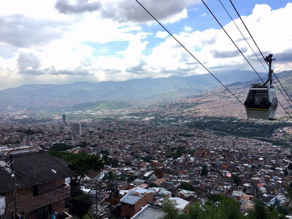 Blick über Medellin in Kolumbien