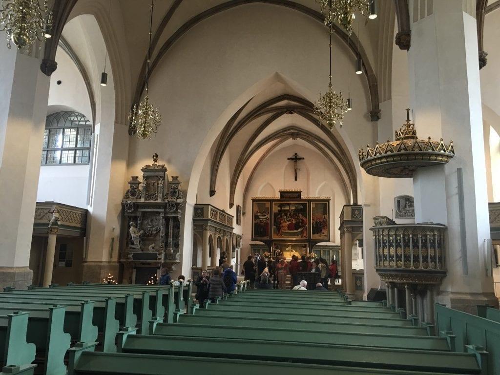 In der Stadtkirche in der Lutherstadt Wittenberg - Das Bauhaus in Dessau - Fahrradtour auf dem Elberadweg