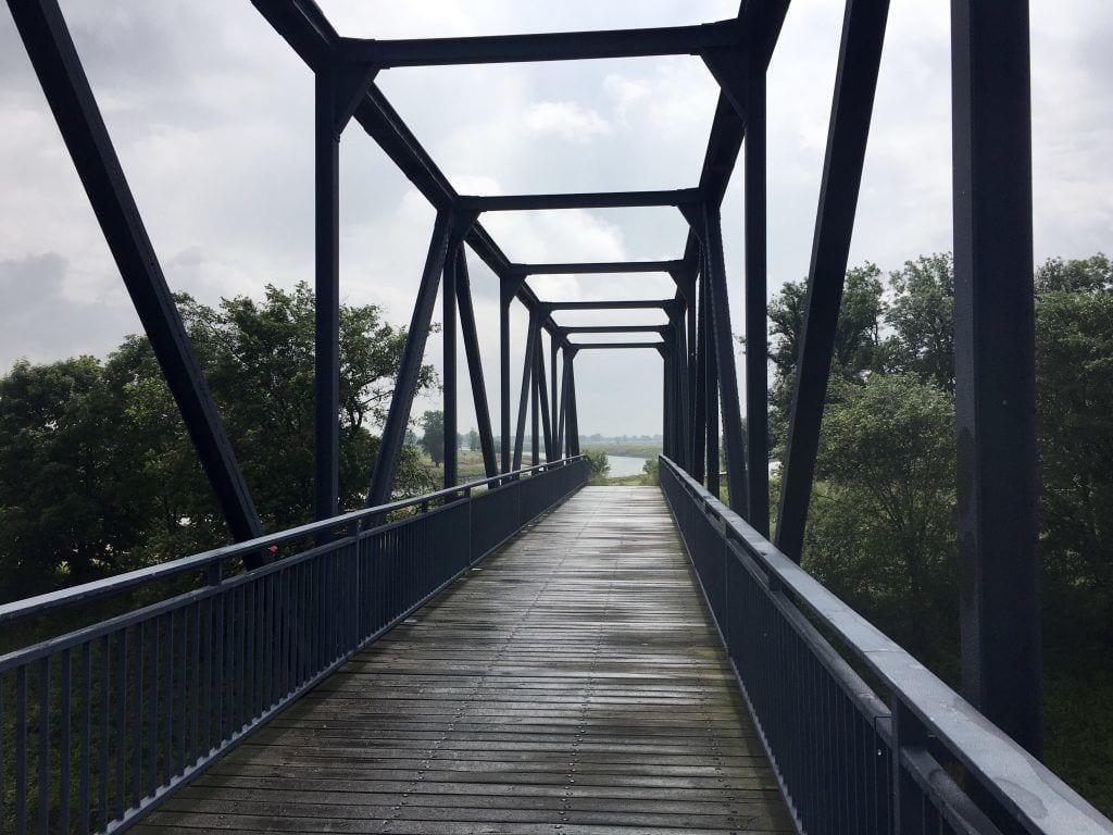 Die Hafenbrücke in Torgau - auf zum Elberadweg