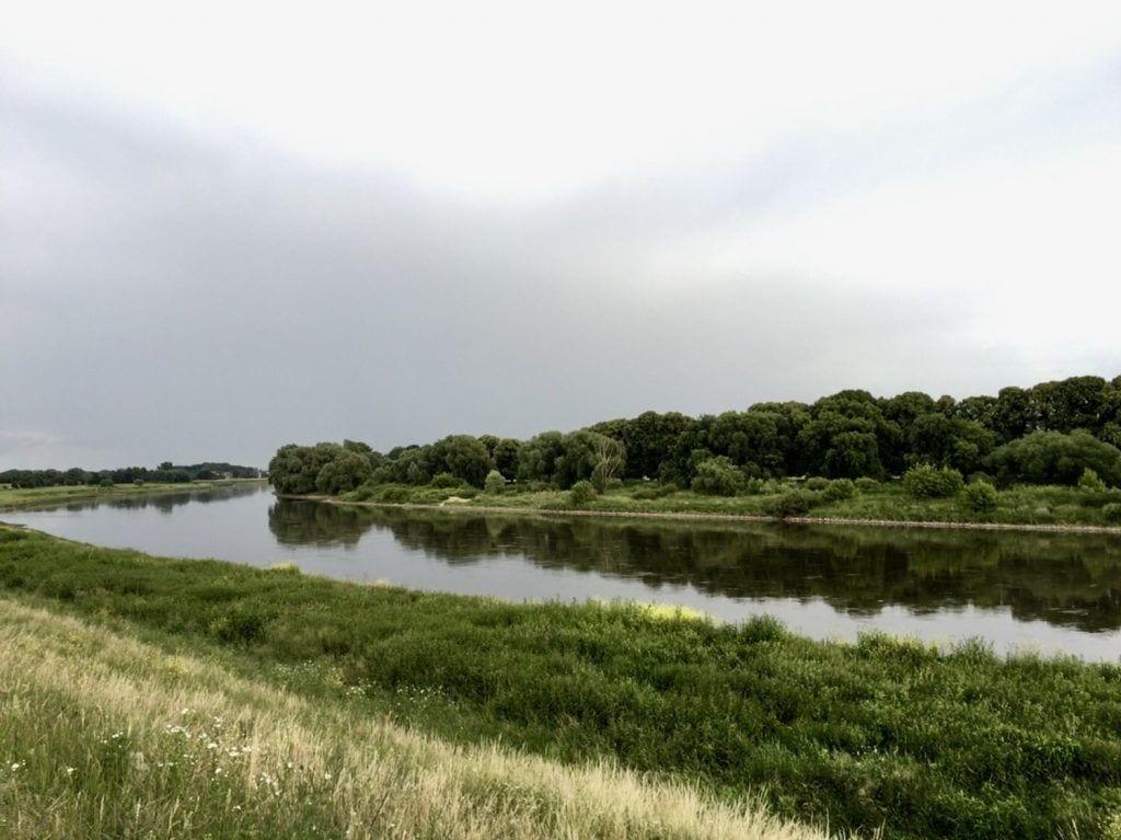 Die wunderschöne Landschaft an der Elbe in Moritz/Sachsen
