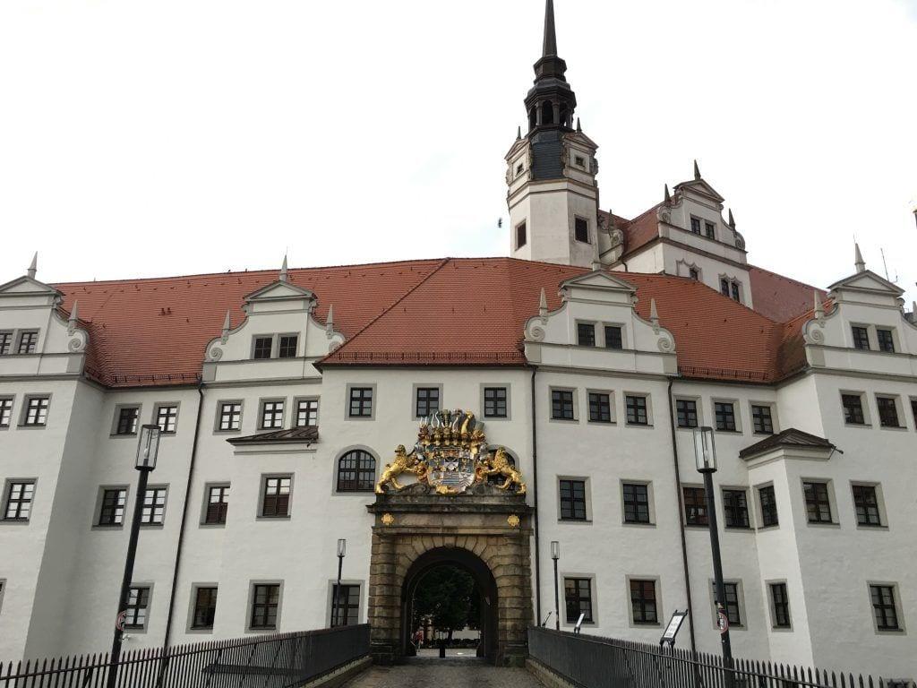 Portal von Schloss Hartenfels in Torgau