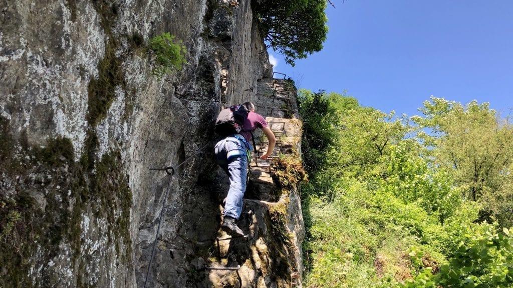 Da geht´s hoch: Wandern und Klettern auf dem Mittelrhein-Klettersteig
