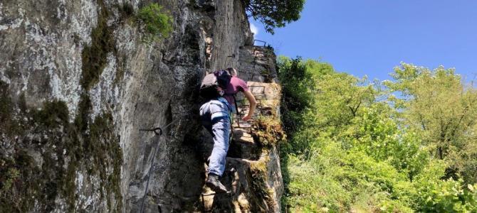 Wandern und Klettern auf dem Mittelrhein-Klettersteig bei Boppard