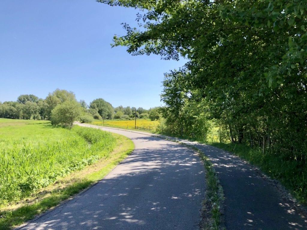 Radweg bei Barth in Vorpommern