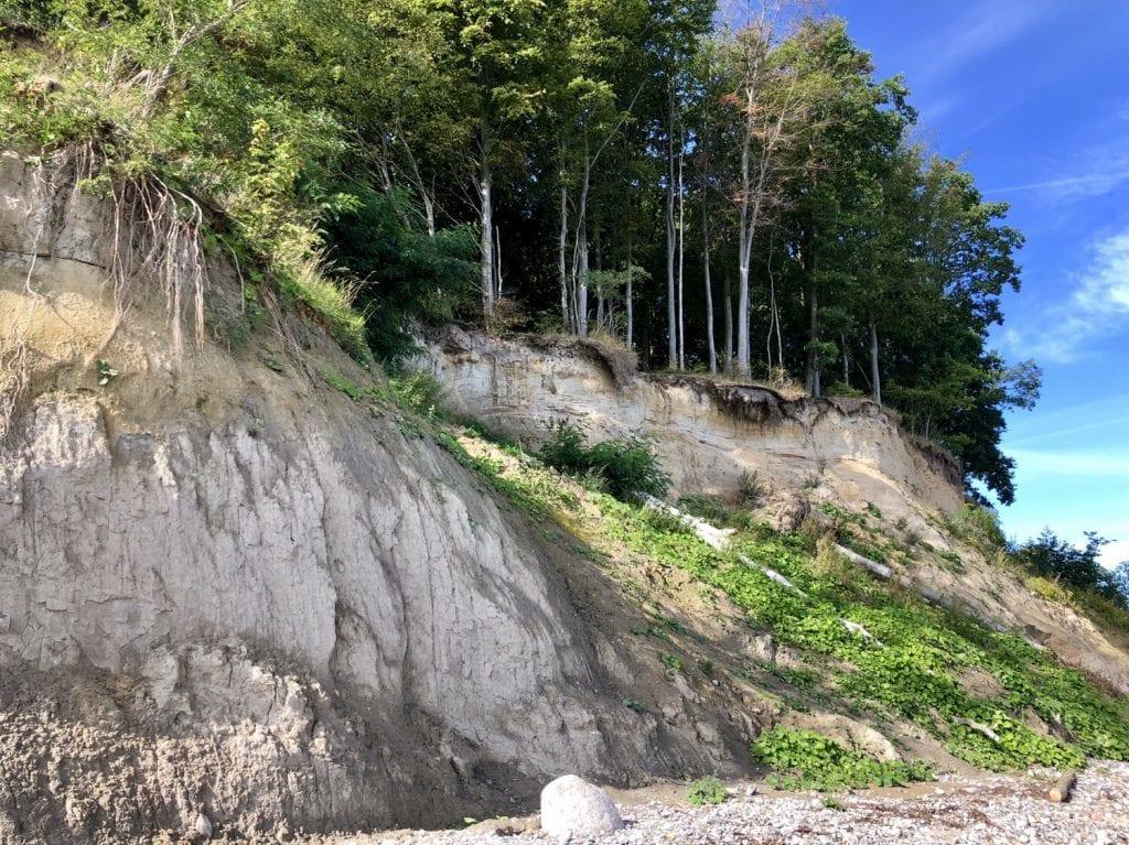 Das wilde Brodtener Steilufer bei Travemünde an der Ostsee