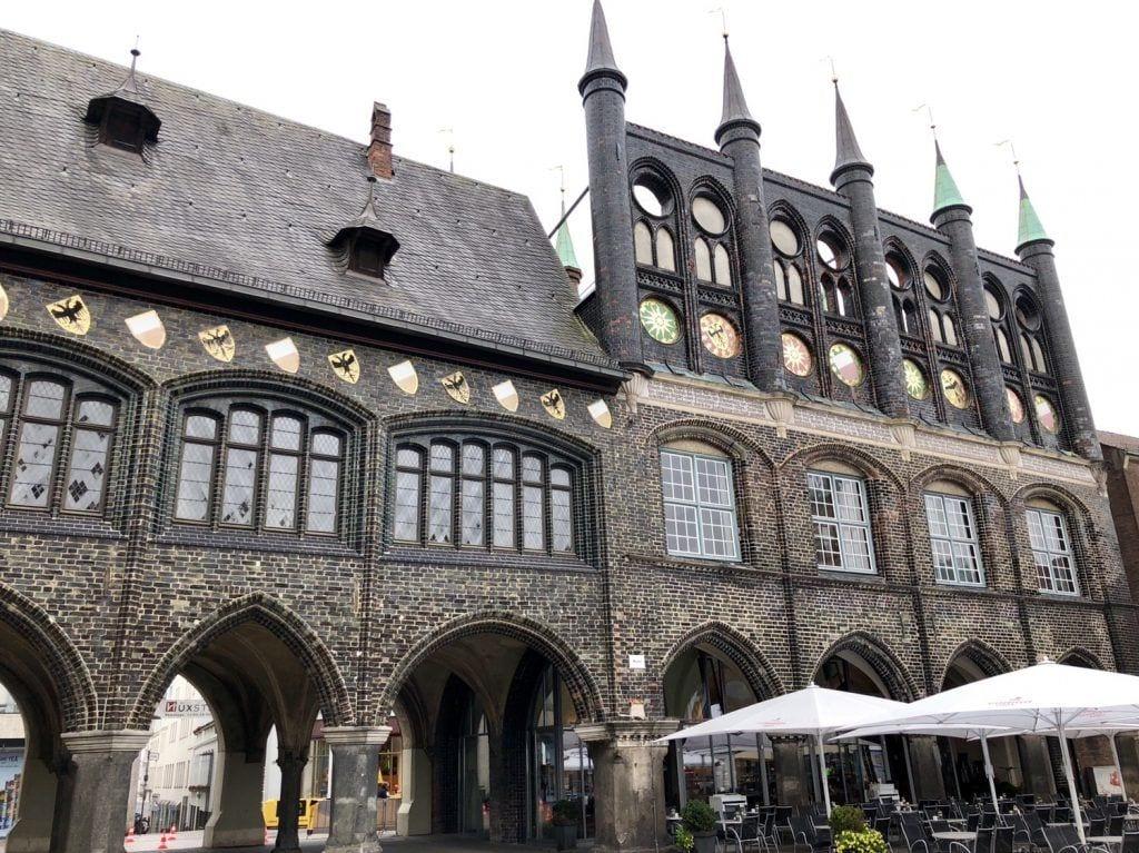Das historische Rathaus der Hansestadt Lübeck