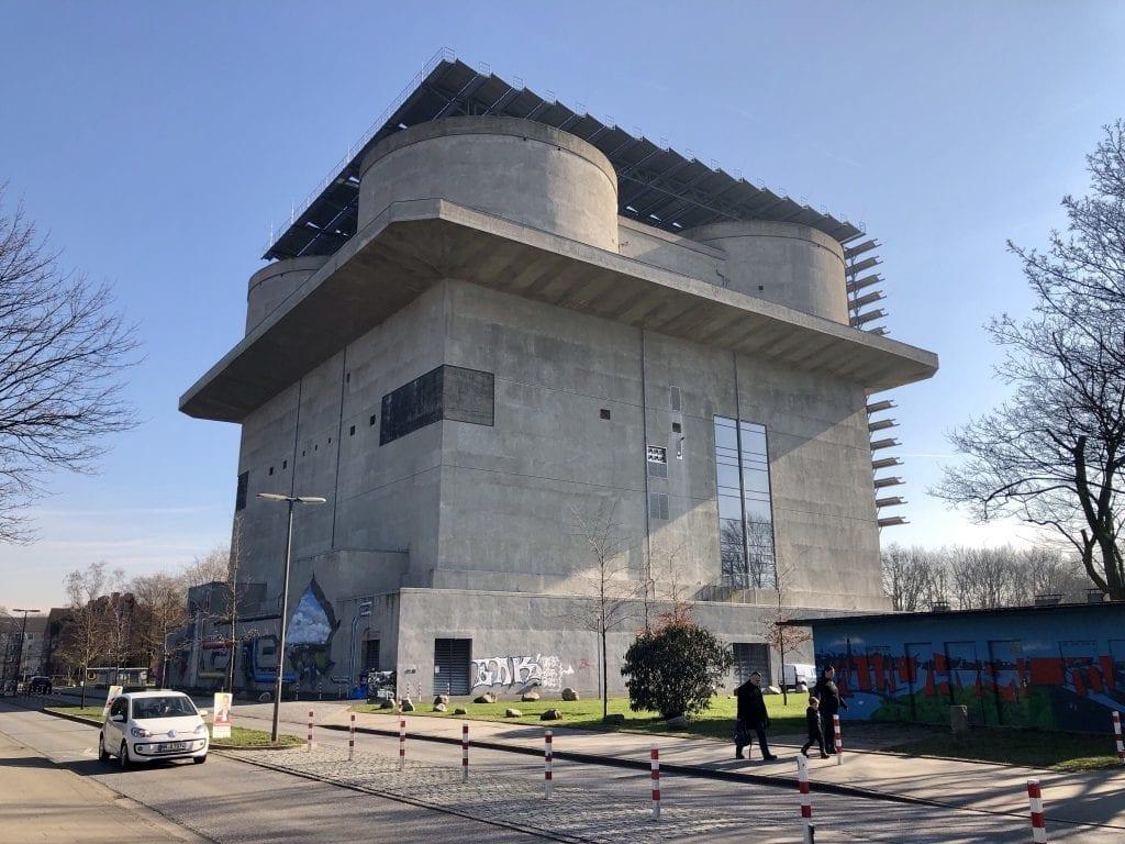 Der Energiebunker in Hamburg Wilhelmsburg