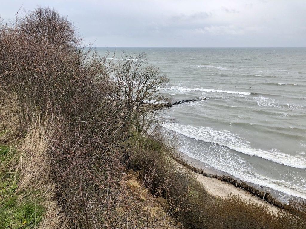 Blick vom Steilufer der Ostsee zwischen Pelzerhaken und Grömitz