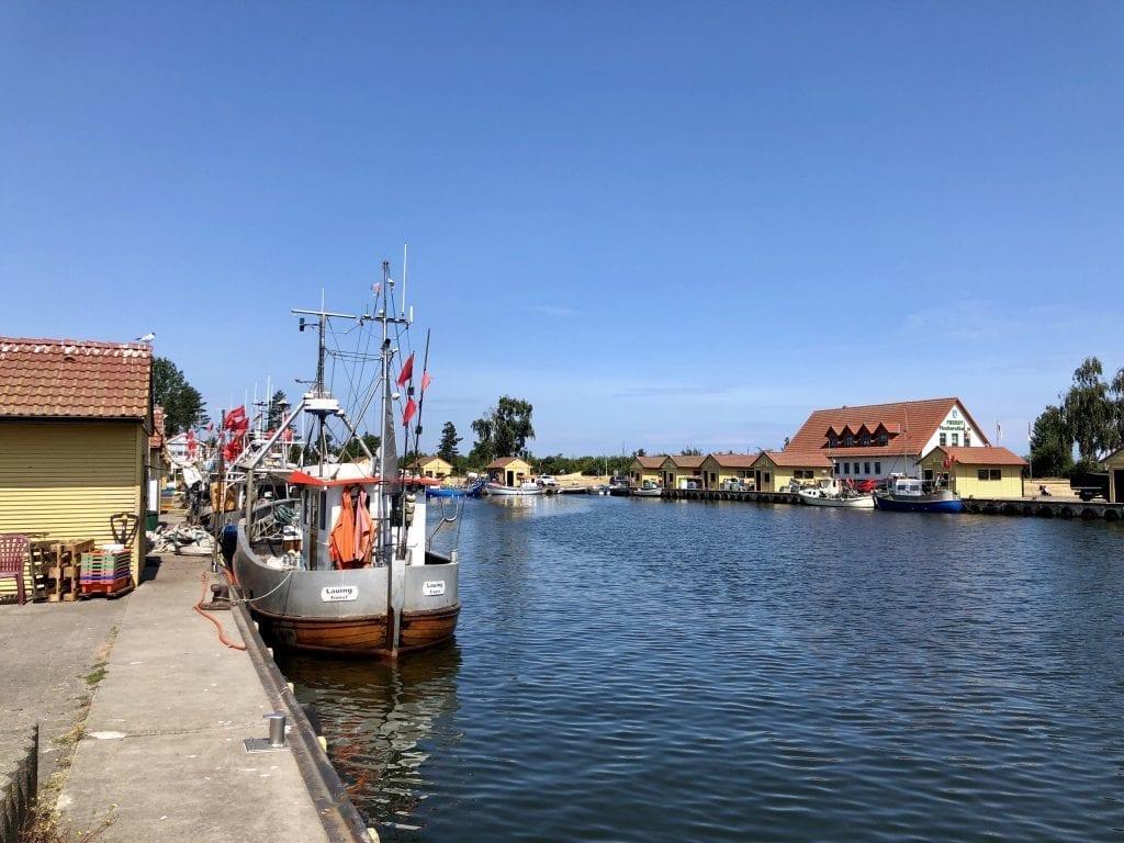 Im Hafen von Freest in Vorpommern