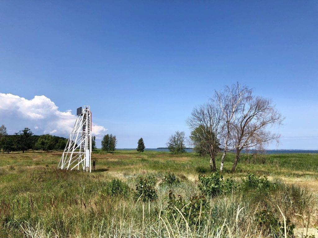 Wandern in Vorpommern: Am Peenestrom in Freest gegenüber  der Insel Usedom