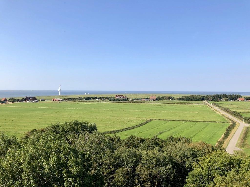 Blick vom Leuchtturm Neuwerk über die Insel