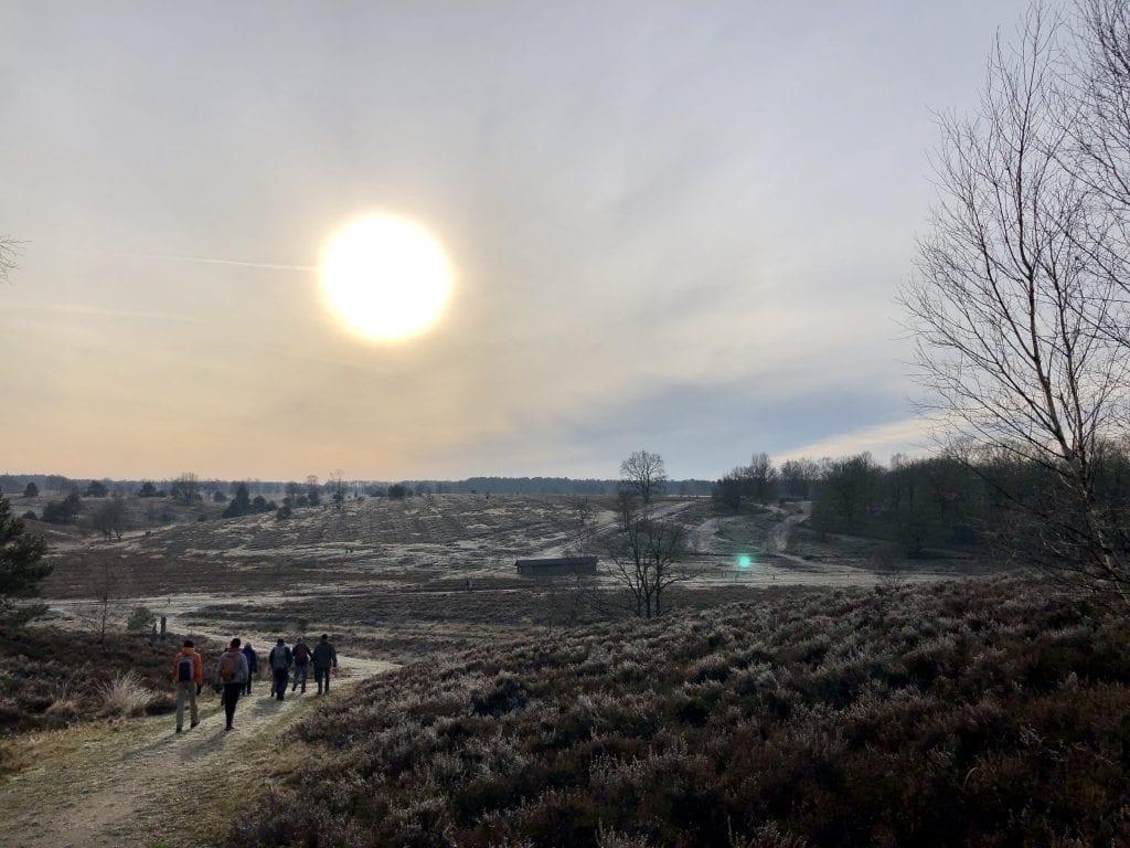 Winterliche Lüneburger Heide auf dem Heidschnuckenweg bei Wesel