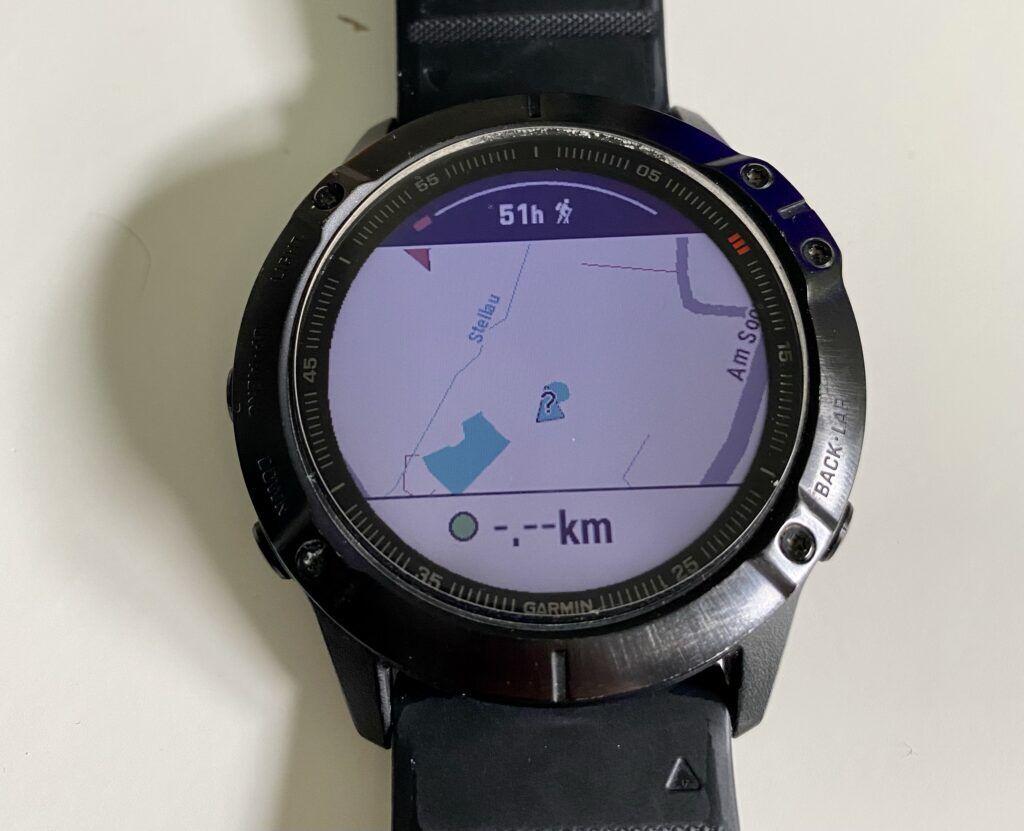 Warte auf die GPS-Ortung und starte die Aktivität - GPX in Garmin importieren
